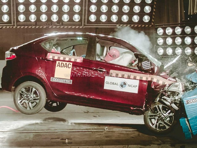 BS6 Tata Tiago, Tigor get 4 star safety rating – Crash test video