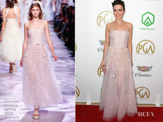 Linda Cardellini In Georges Chakra Couture – 2019 Producers Guild Awards