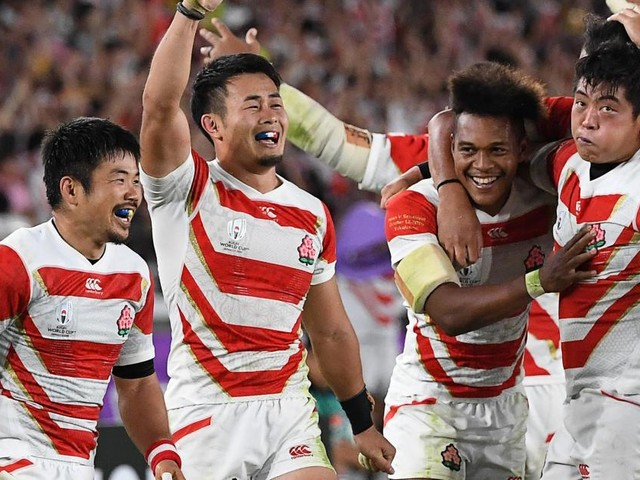 Japan beat Scotland to reach first World Cup quarter-final