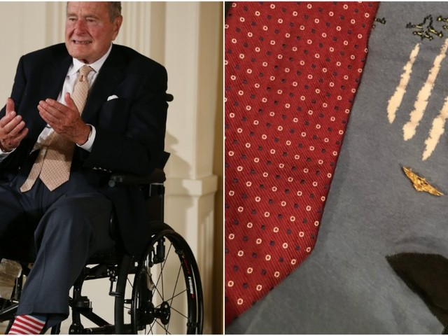 George H.W. Bush, famous for his quirky socks, will be buried in a pair that commemorate his World War II service