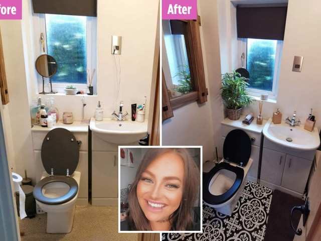 Woman transforms dark, dingy bathroom for just £80 with bargains from Ikea and Homebase