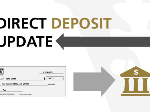 Enroll in direct deposit by Friday, June 28, to avoid delay in pay during July 5 administrative closure