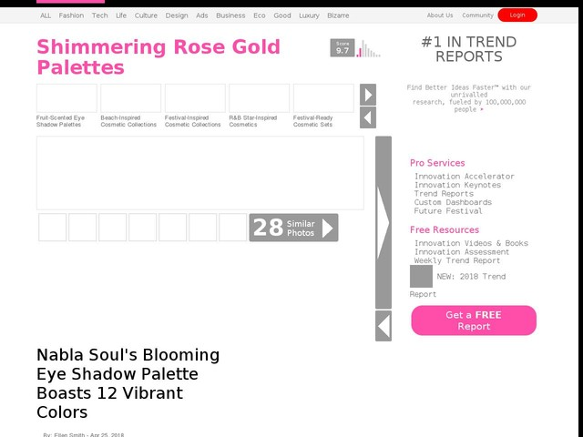 Shimmering Rose Gold Palettes - Nabla Soul's Blooming Eye Shadow Palette Boasts 12 Vibrant Colors (TrendHunter.com)