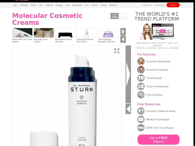 Molecular Cosmetic Creams - The Dr. Barbara Sturm Face Cream Men Keeps Working for 24 Hours (TrendHunter.com)