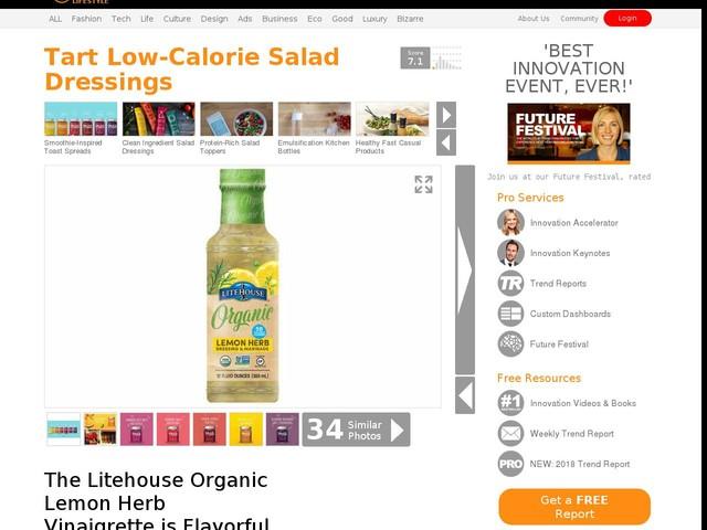 Tart Low-Calorie Salad Dressings - The Litehouse Organic Lemon Herb Vinaigrette is Flavorful (TrendHunter.com)
