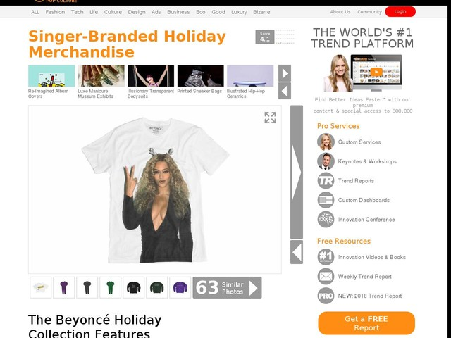 Singer-Branded Holiday Merchandise - The Beyoncé Holiday Collection Features Apparel and Decor (TrendHunter.com)