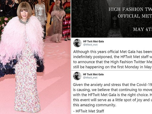 Fashion fans are going to host the Met Gala on TWITTER after it was canceled