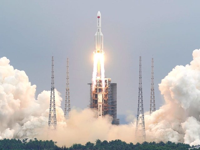 A huge rocket from China's space-station launch could fall back to Earth totally uncontrolled