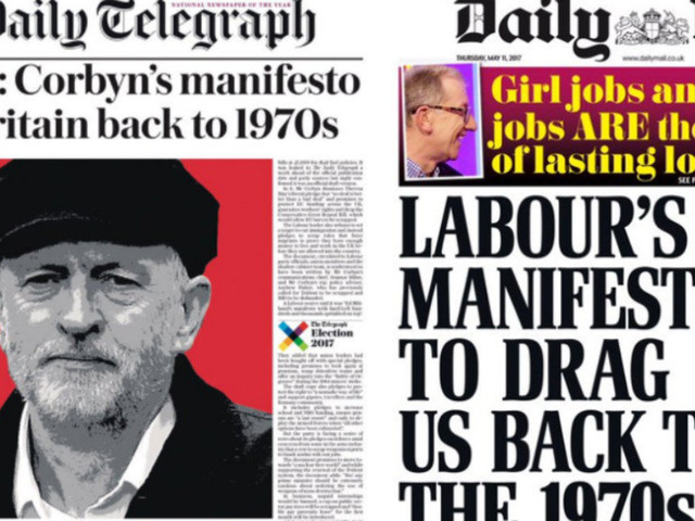 Jeremy Corbyn's Manifesto Branded 'Back To The 70s' By Brexit-Backing Press