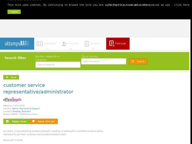 customer service representative/administrator