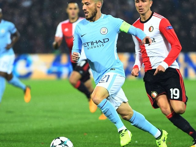 David Silva leaves Feyenoord spellbound in Manchester City's 4-0 Champions League opener - player ratings
