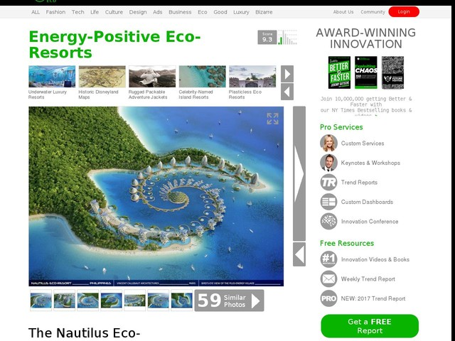 Energy-Positive Eco-Resorts - The Nautilus Eco-Resort Embraces Sustainable Architectural Designs (TrendHunter.com)