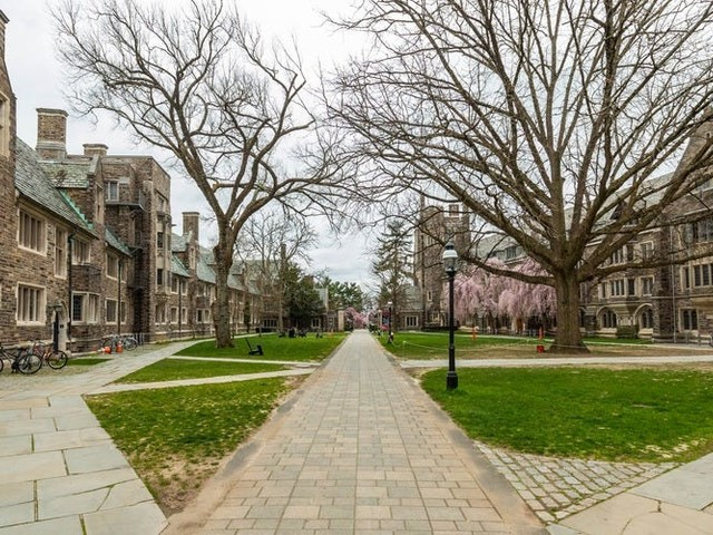 Photos of empty college campuses that show how different graduation season looks this year