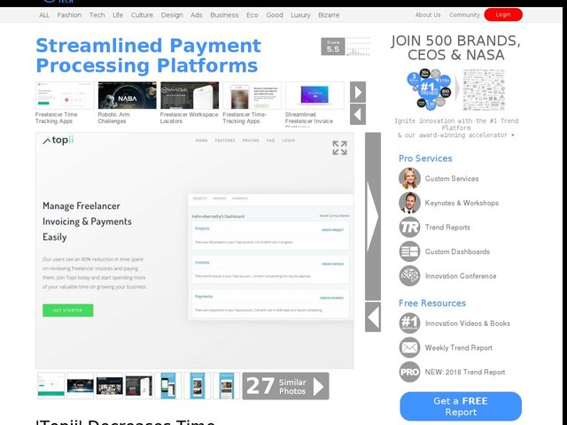 Streamlined Payment Processing Platforms - 'Topii' Decreases Time Spent Reviewing Invoices by 80% (TrendHunter.com)