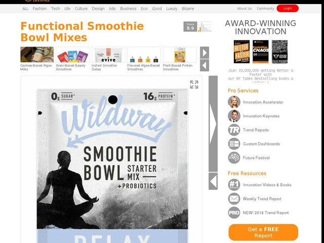 Functional Smoothie Bowl Mixes - Wildway's Drink Blends Encourage Restoration, Relaxation and More (TrendHunter.com)