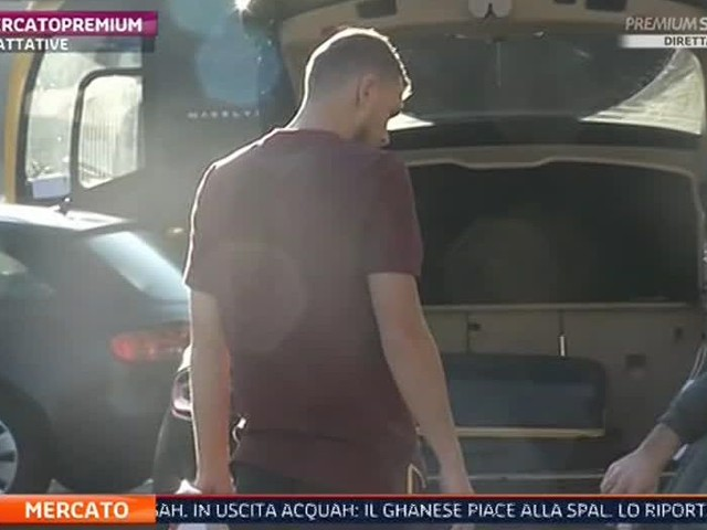 Edin Dzeko pictured getting into car with bags packed, ready to travel to London?