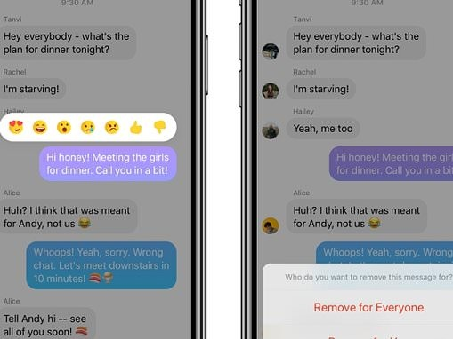 Facebook launches Unsend feature for Messenger (even though Mark Zuckerberg has had it for months)