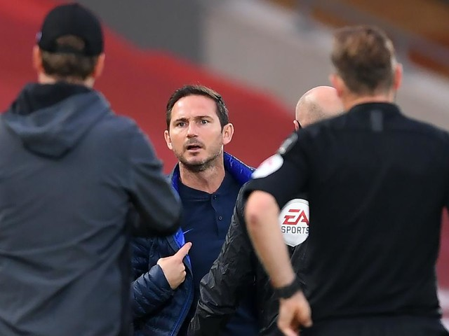 Code of respect was broken by Liverpool bench, claims Chelsea boss Frank Lampard