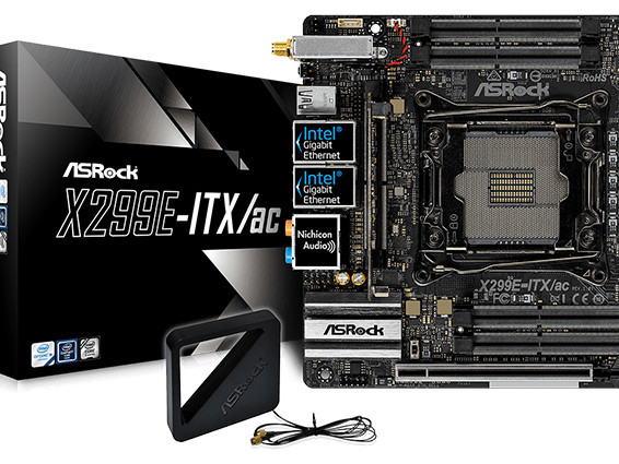 ASRock's X299E-ITX/ac Motherboard Now Available: Up to 18 Cores in Mini-ITX