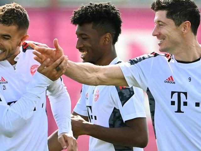 Coman returns to Bayern Munich training after heart surgery