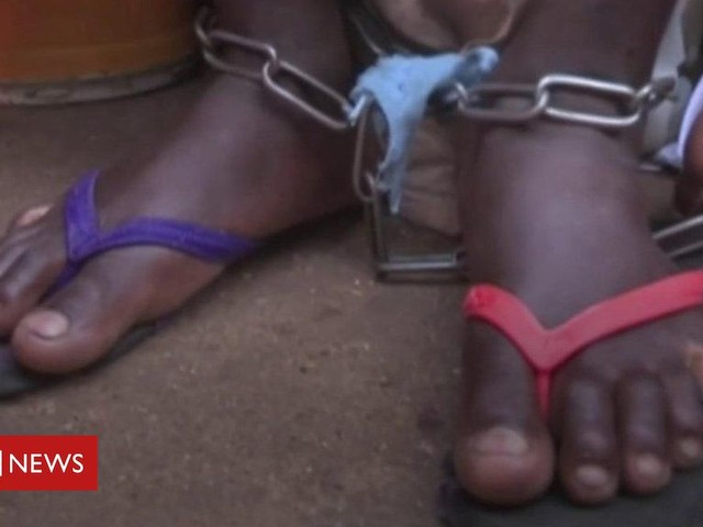 Men and boys chained up at Nigeria Islamic 'school'