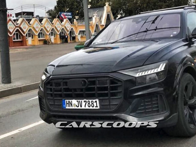Audi Q8 exterior revealed in latest spyshot from Moscow