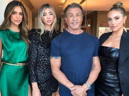 Sylvester Stallone quips about height of daughters