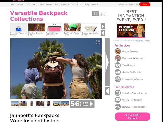 Versatile Backpack Collections - JanSport's Backpacks Were Inspired by the Sandstone Canyons (TrendHunter.com)