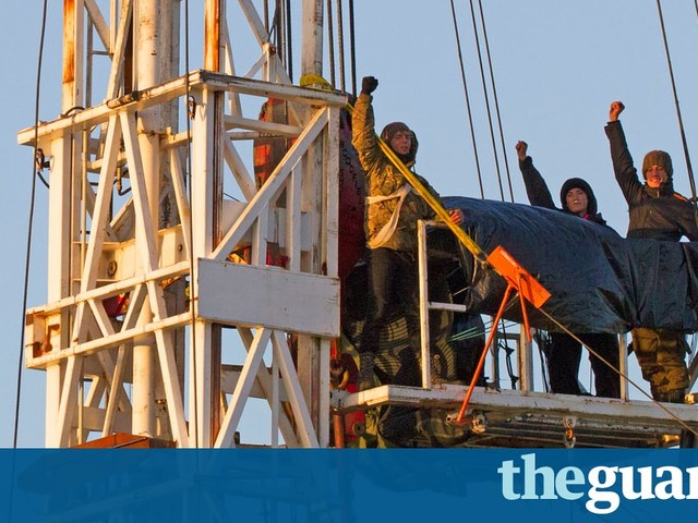 Fracking protesters vow to 'put their lives on line' after scaling rig