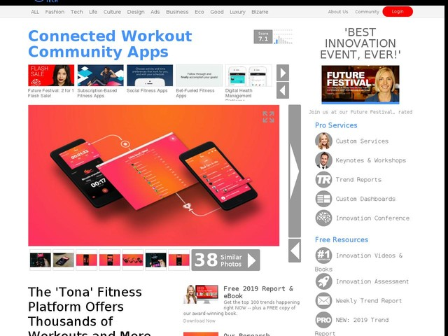 Connected Workout Community Apps - The 'Tona' Fitness Platform Offers Thousands of Workouts and More (TrendHunter.com)