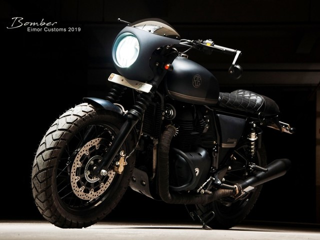 Check Out This Custom-Made Royal Enfield Interceptor 650 'Bomber'