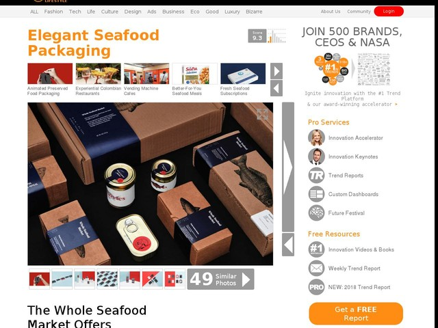 Elegant Seafood Packaging - The Whole Seafood Market Offers Minimalist Packaging for its Products (TrendHunter.com)