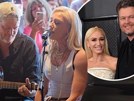 Gwen Stefani teases husband Blake Shelton after he calls her by maiden name