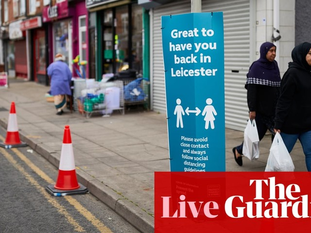 UK coronavirus live: Leicester's local lockdown to be enforced with law changes