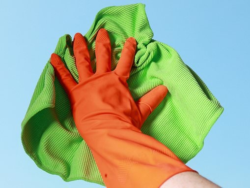 Gloves contain five times as much bacteria as a toilet seat