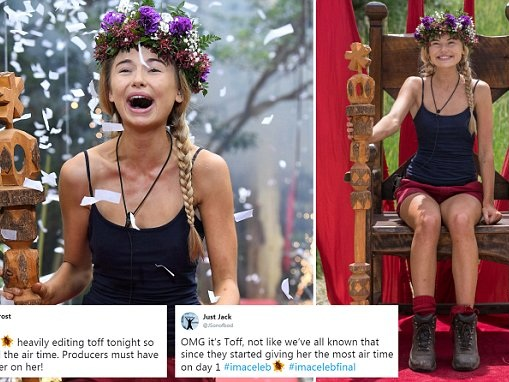 Viewers call I'm A Celebrity a fix after Toff wins