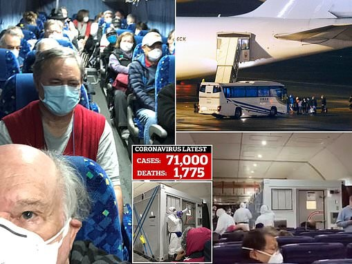 Isolation chambers are installed on planes bringing 400 Americans back from Diamond Princess