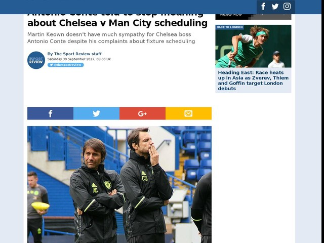 Antonio Conte told to stop moaning about Chelsea v Man City scheduling