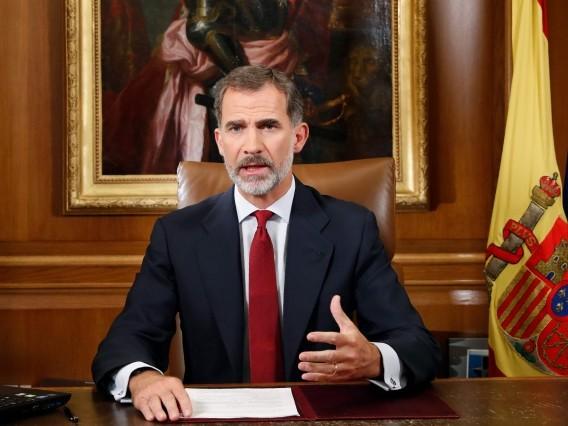 Spain king denounces Catalan independence bid