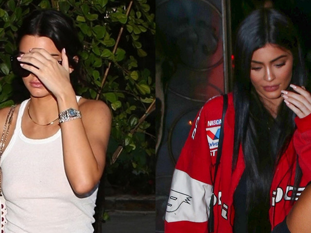 Kendall & Kylie Jenner Keep It Casual & Trendy for Dinner in LA