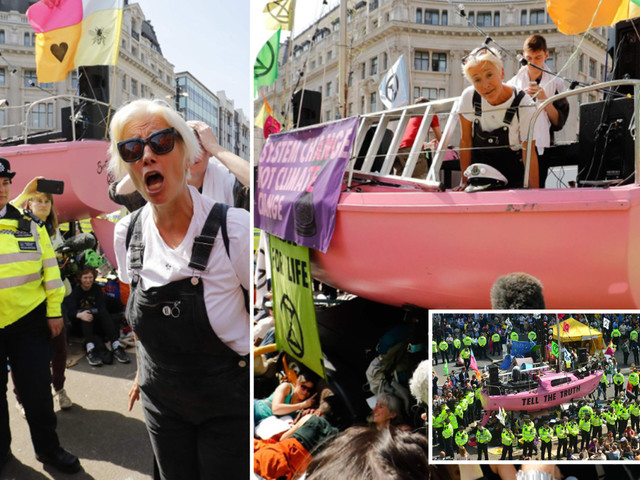 Emma Thompson blames POLICE for 'wasting taxpayer money' tackling Extinction Rebellion eco-warrior protests