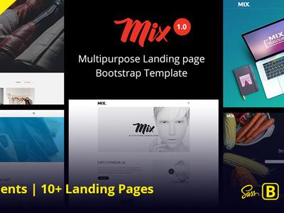 Mix Multipurpose Landing Page Bootstrap Template (Marketing)