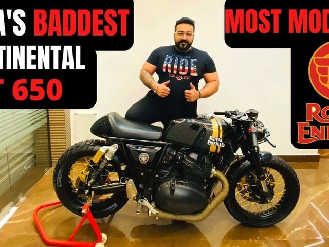 This RE Continental GT Has Modifications Almost Worth The Bike's Cost