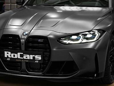 2021 BMW M3 Sedan in Frozen Dark Grey Looks Like Darth Vader's Car