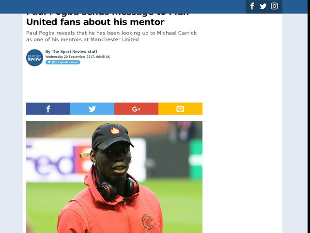 Paul Pogba sends message to Man United fans about his mentor