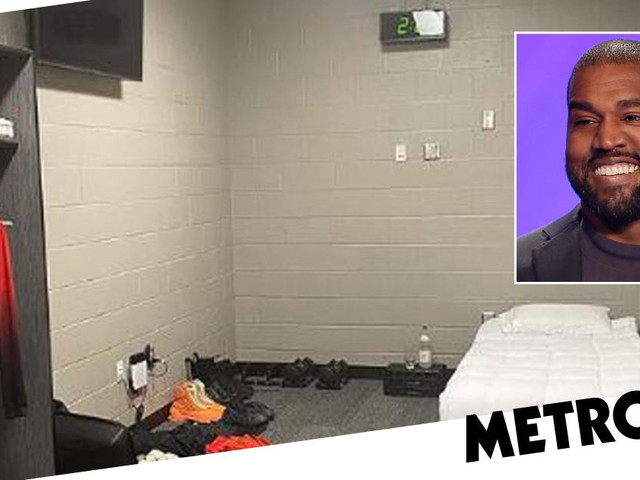 Kanye West gives fans a look inside his living quarters until he finishes Donda, and it's sparse to say the least
