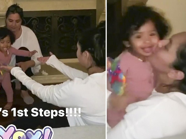 Kobe Bryant's 11-month-old daughter Capri takes her FIRST STEPS in heartwarming video with mom Vanessa