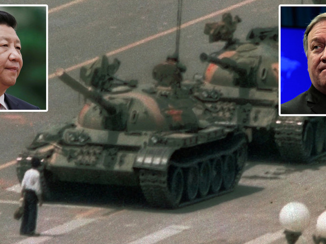 China says Mike Pompeo will end up on 'the ash heap of history' for marking 30th anniversary of Tiananmen Square, which Beijing is desperate to ignore