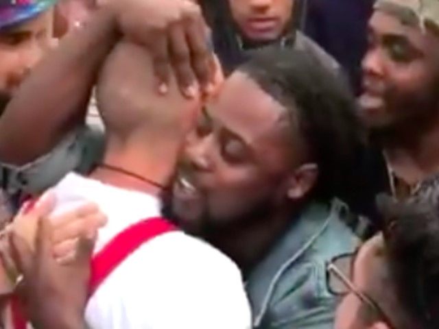Protester Hugs Nazi Outside Richard Spencer Event, Asks 'Why Do You Hate Me?'