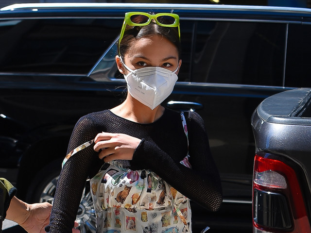 Olivia Rodrigo Wears Dress Covered in Cat Photos While Heading to 'SNL' Rehearsals